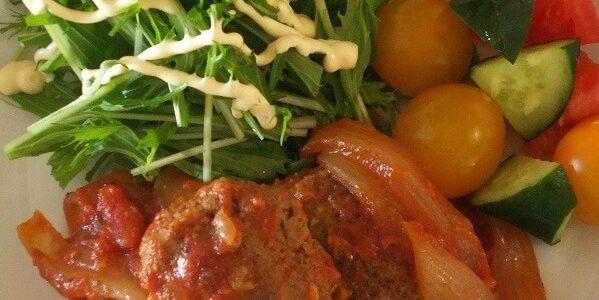 キヌアレシピ簡単煮込みハンバーグ