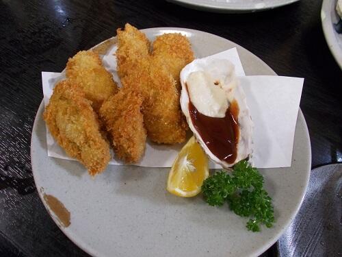 宮島 食べ物 はやし 牡蠣フライ