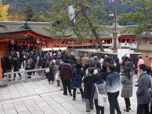 宮島 厳島神社 混雑