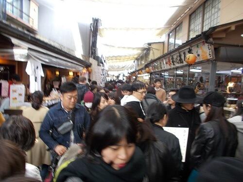 宮島 表参道商店街 混雑