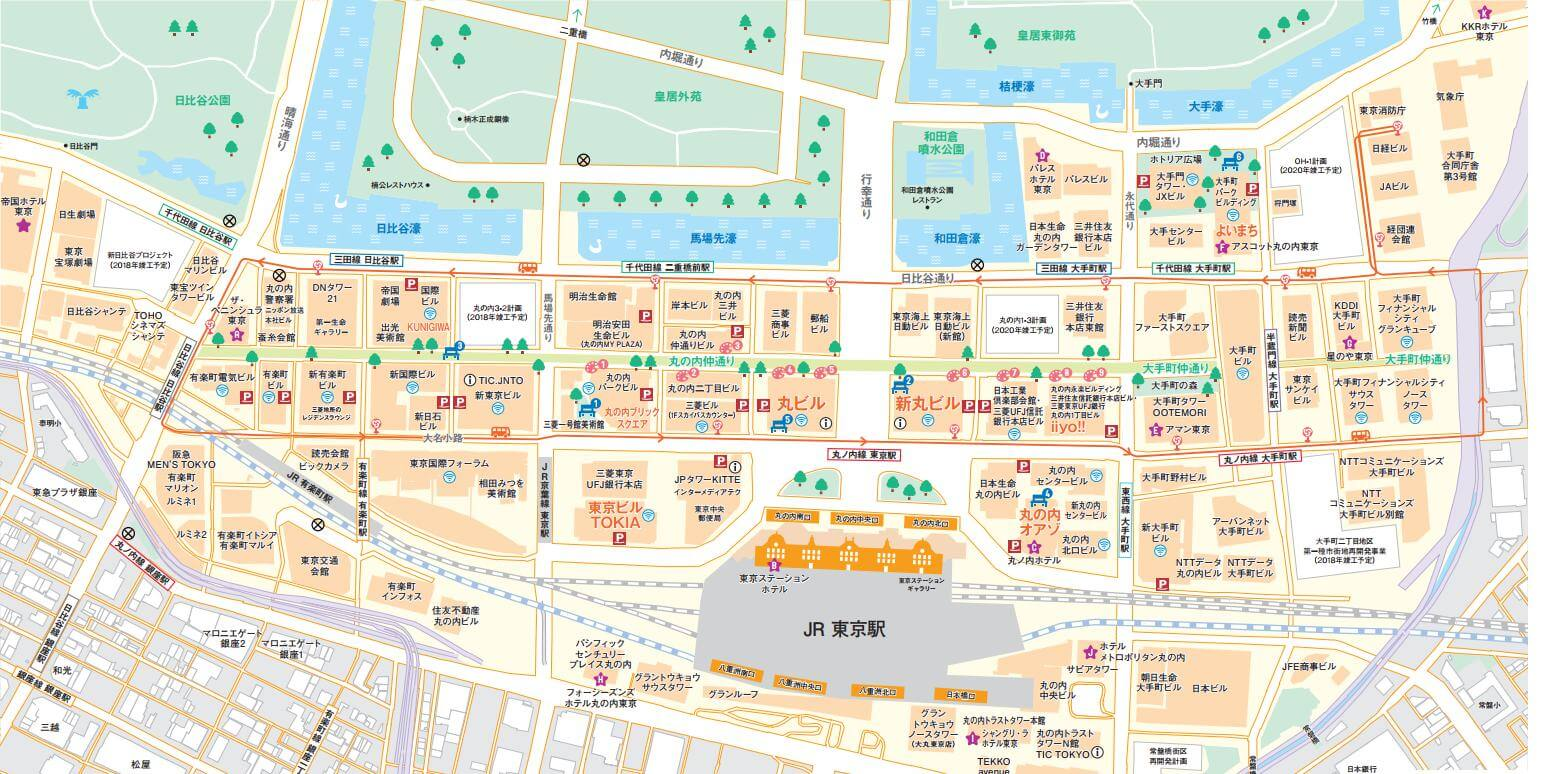 丸の内イルミネーション 場所 マップ