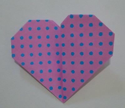 ハート 折り紙折り方