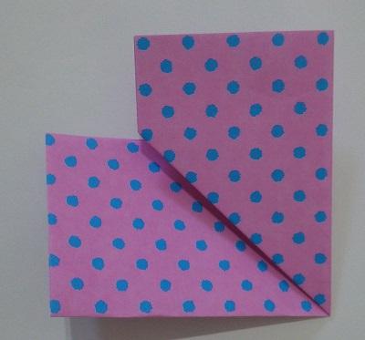 ハート 折り紙 折り方6