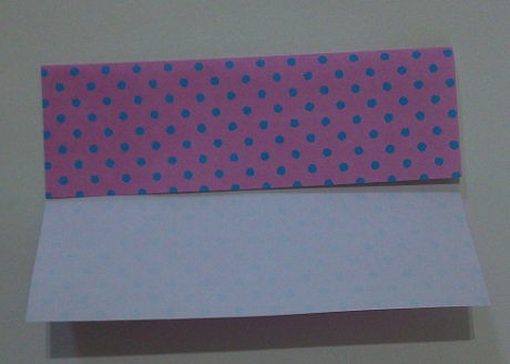 ハート 折り紙折り方 長方形