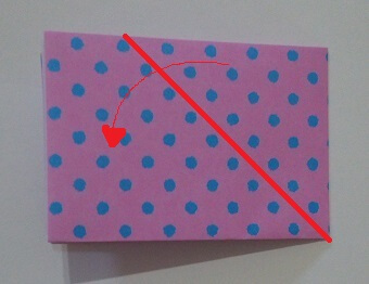 ハート 折り紙 折り方4-1