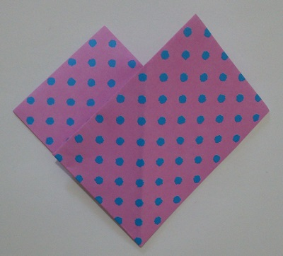 ハート 折り紙 折り方7