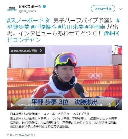 平野歩夢 スノーボード