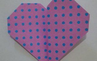 折り紙 ハート 長方形